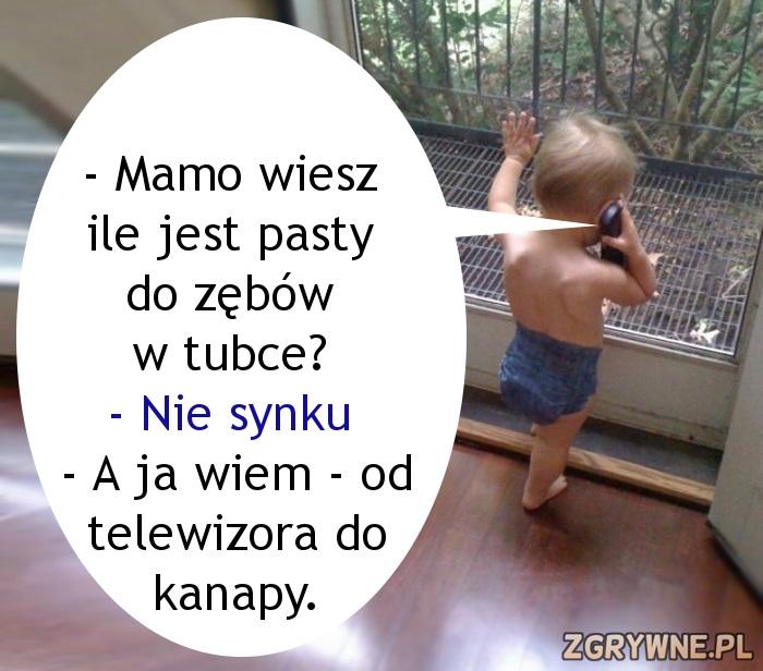Mały Jasio dzwoni do mamy... :)