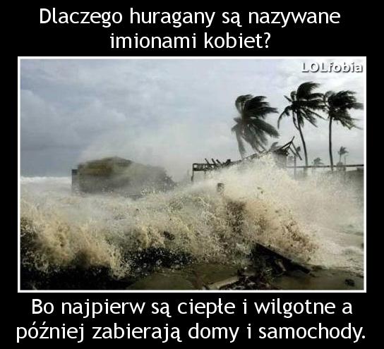 Dlaczego huragany są nazywane imionami kobiet?