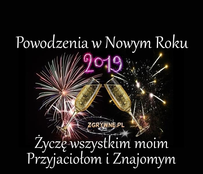 Powodzenia w  Nowym Roku 2019