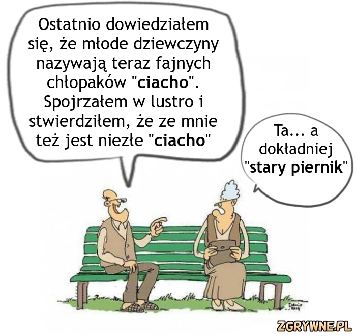 Cięta riposta babci wobec dziadka... :)