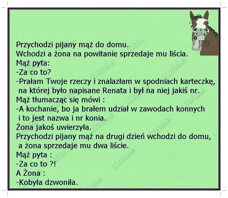 Koń by się uśmiał...:)
