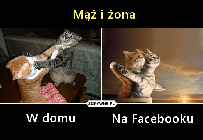 Mąż i żona: W domu i na Facebooku  :)