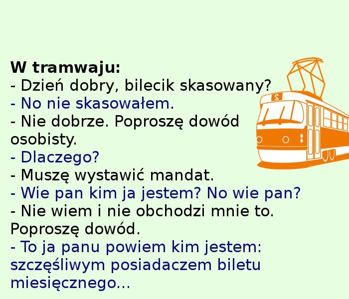 Tymczasem w tramwaju... :)