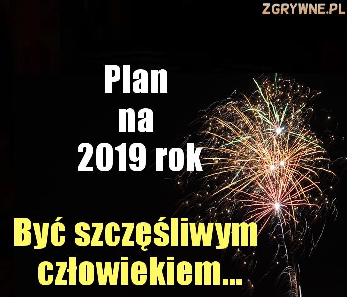 Plan na 2019 rok...