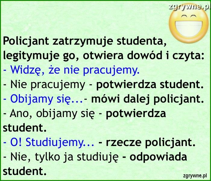 Cięta riposta studenta... :)