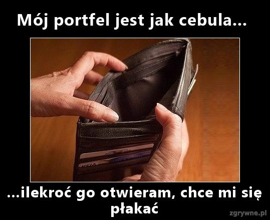 Mój portfel jest jak cebula...