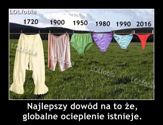Najlepszy dowód na to, że globalne ocieplenie istnieje...