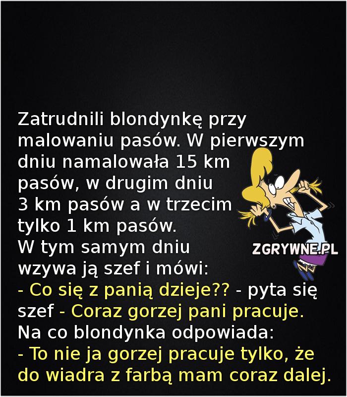 Humor o blondynkach... :)
