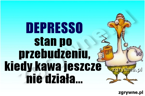 DEPRESSO stan po przebudzeniu, kiedy kawa jeszcze nie działa...
