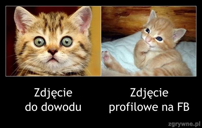 Zdjęcie do dowodu vs. Zdjęcie profilowe na FB