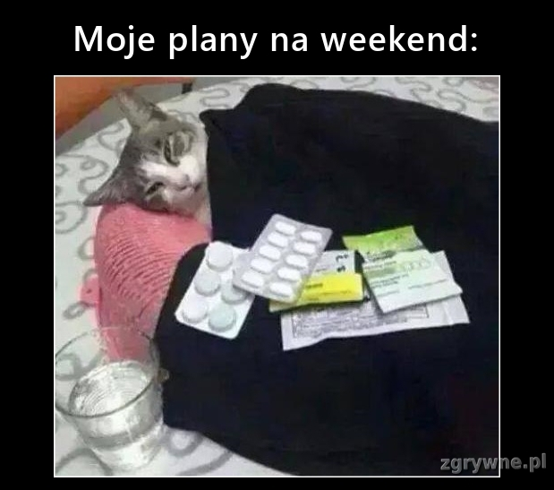 Moje plany na weekend: