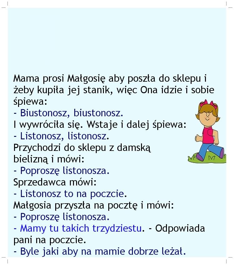 Roztargniona Małgosia... :)