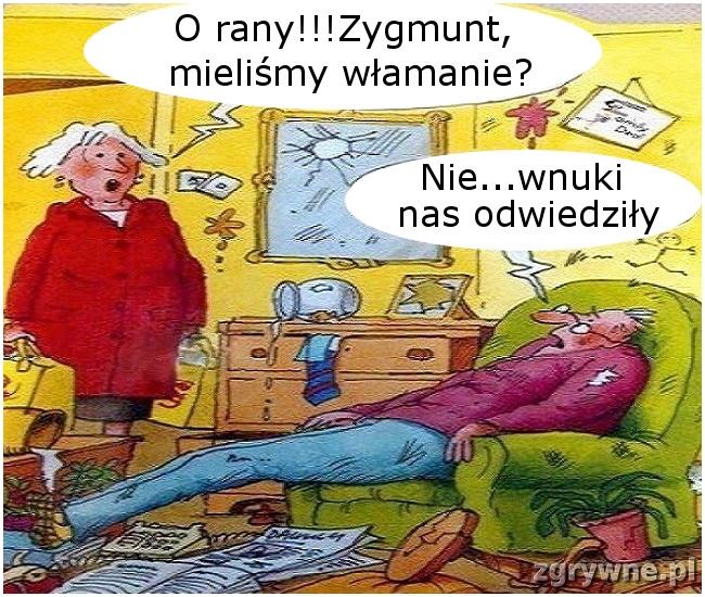 Odwiedziny wnuków... :)