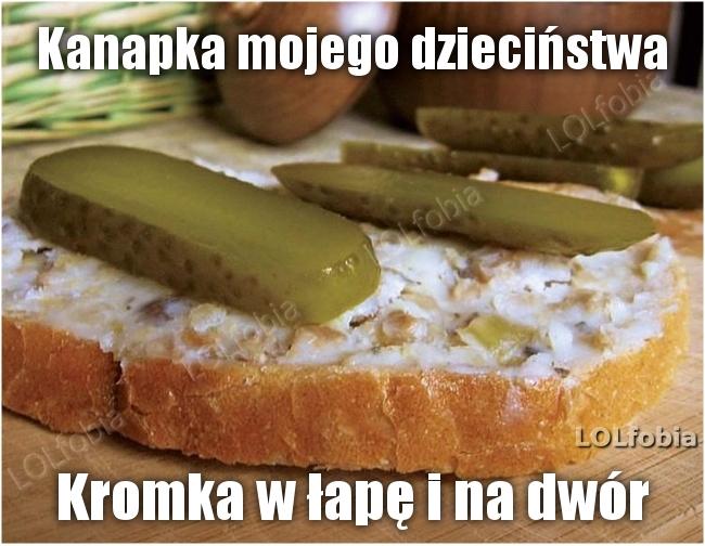 Chleb ze smalcem - kanapka mojego dzieciństwa