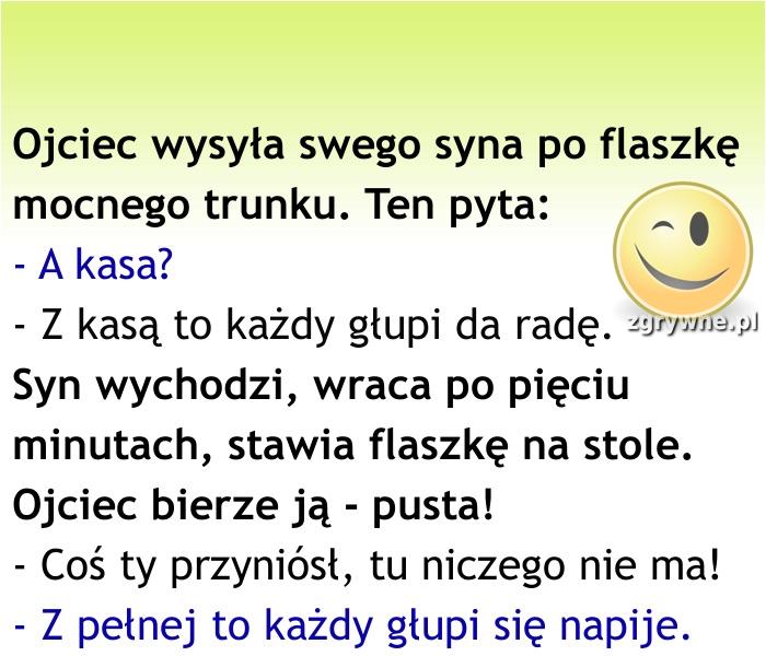 Ha ha ha... Łebski synalek :)