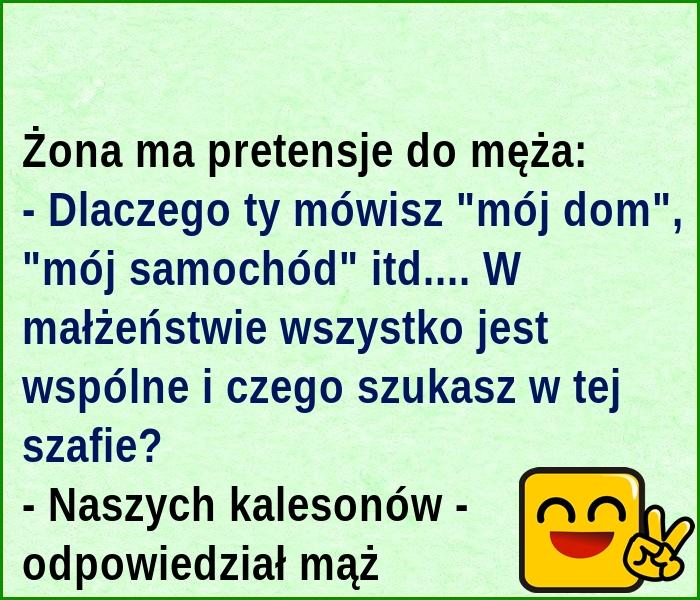 Ha ha ha... Wspólne kalesony :)