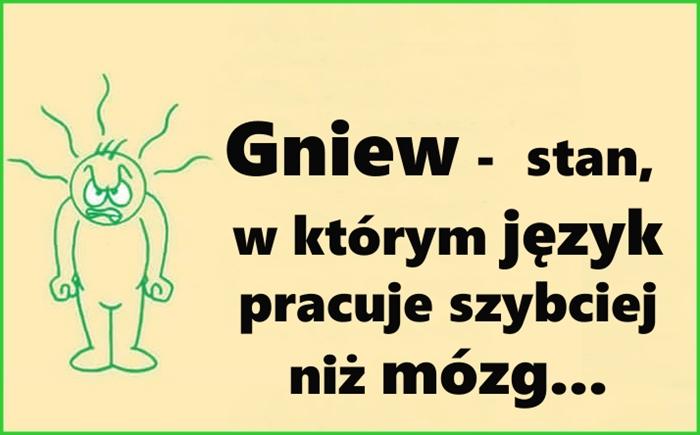 Gniew - stan, w którym język pracuje szybciej niż mózg... :)