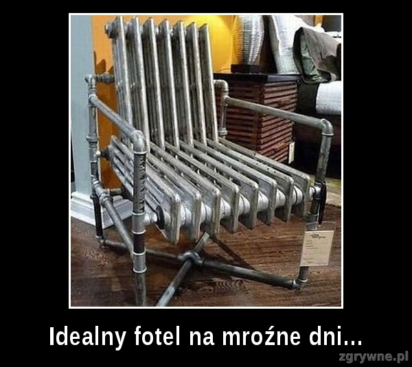 Idealny fotel na mroźne dni...