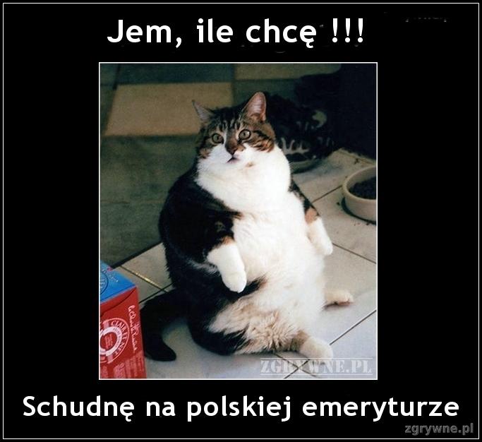 Jem, ile chcę!!! Schudnę na polskiej emeryturze.