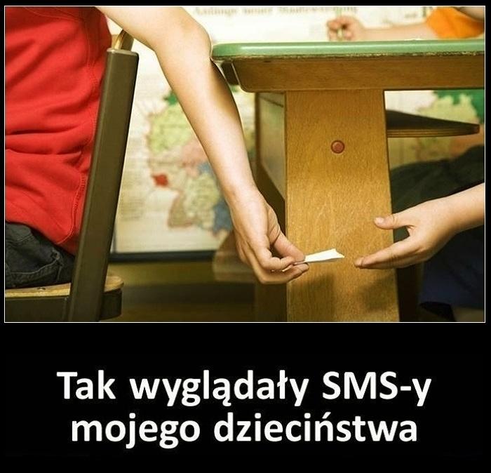 Tak wyglądały SMS-y mojego dzieciństwa... :)