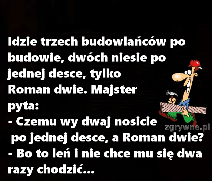 CHCIAŁOBY SIĘ POWIEDZIEĆ ROMAN: SZANUJ SWOJĄ PRACĘ... :)
