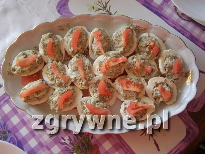 Przepis na jaja faszerowane pieczarkami (Y)