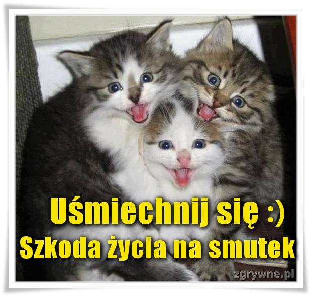 Uśmiechnij się :) Szkoda życia na smutek.