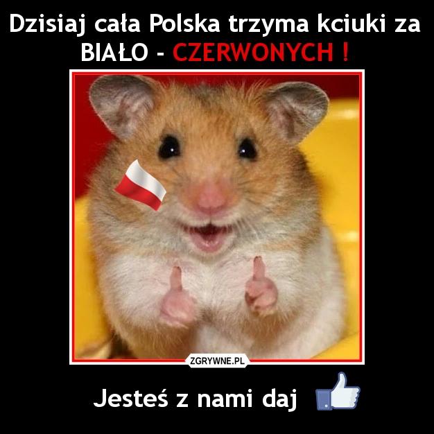 Dzisiaj cała Polska trzyma kciuki za BIAŁO - CZERWONYCH !